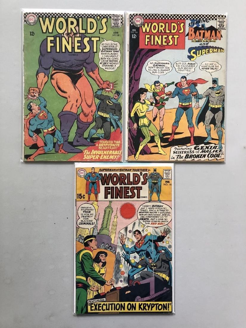 Lot of 3 World's Finest (1941) #158 164 191 Batman