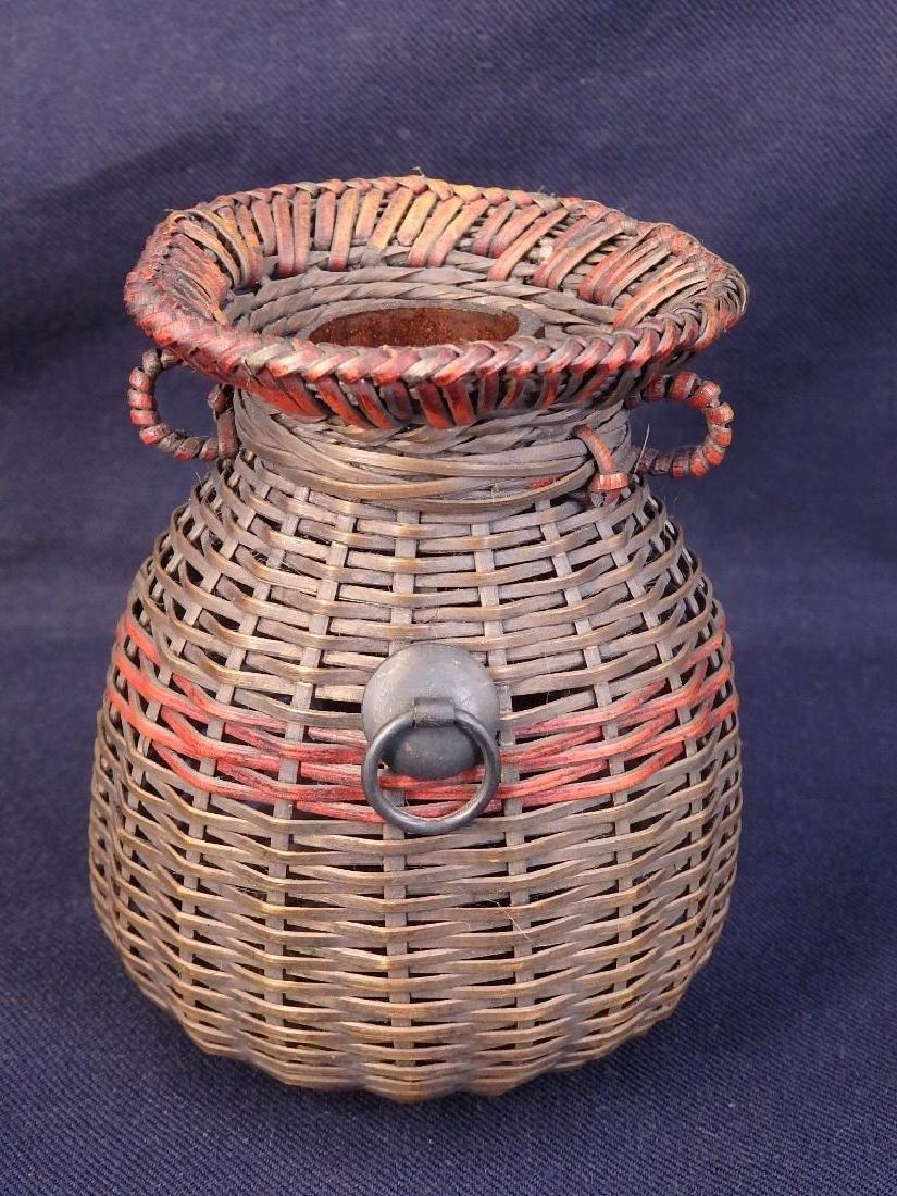 Antique weaved flower basket