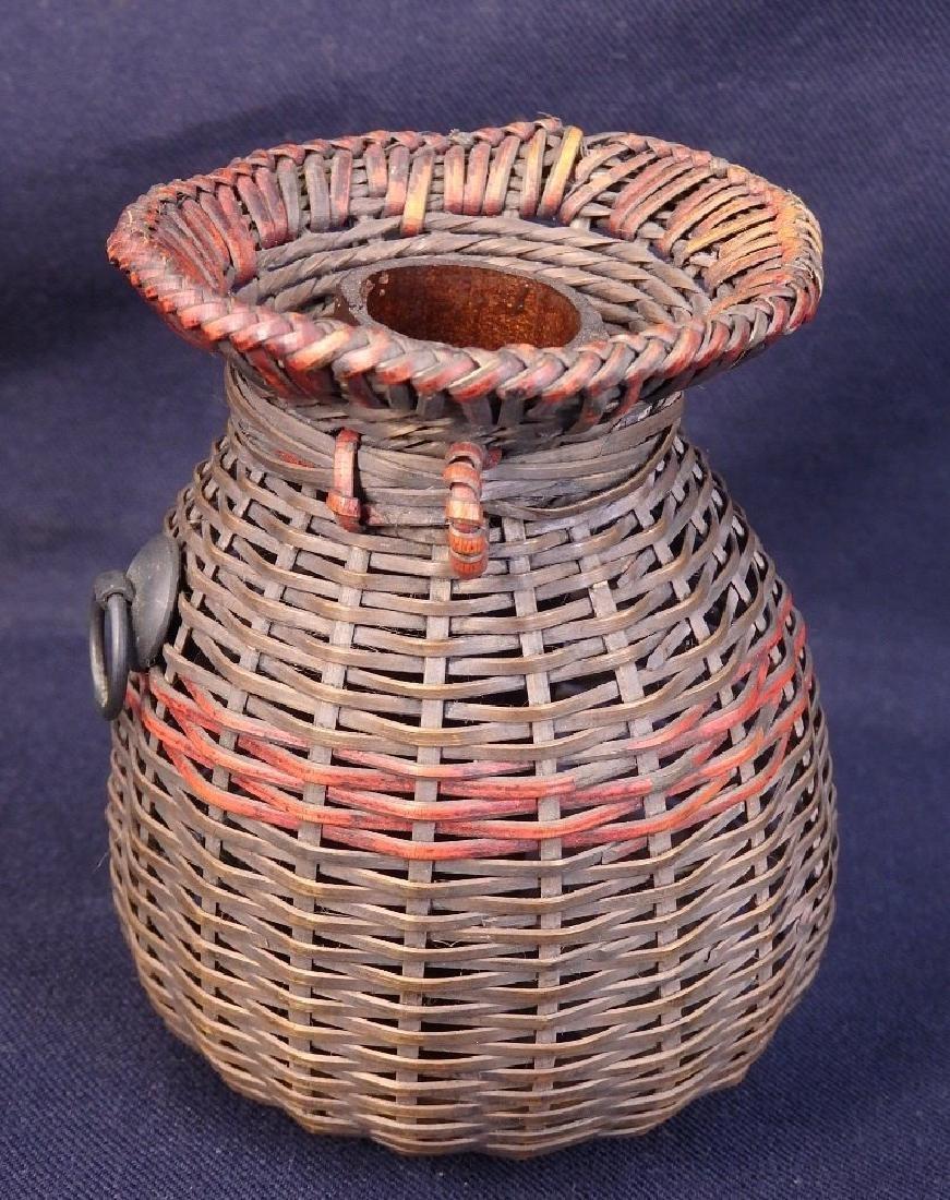 Antique weaved flower basket - 3