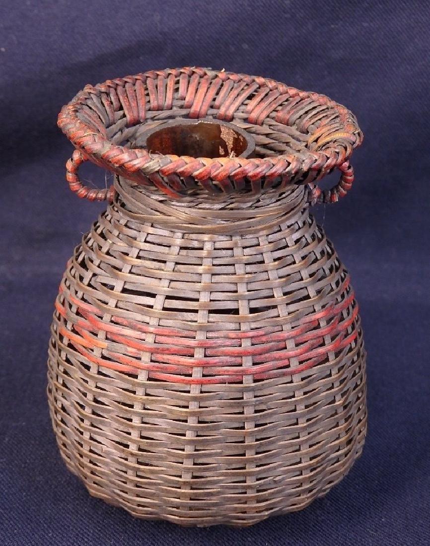 Antique weaved flower basket - 4