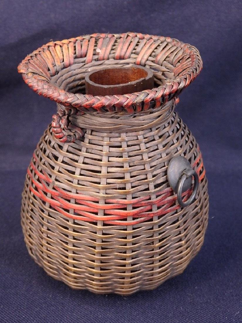 Antique weaved flower basket - 5