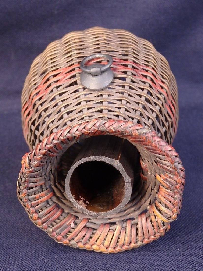 Antique weaved flower basket - 6