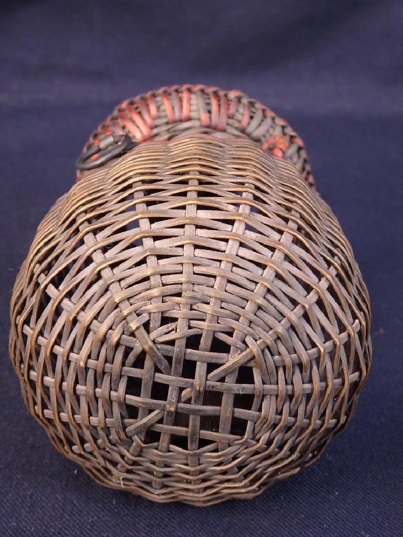 Antique weaved flower basket - 7