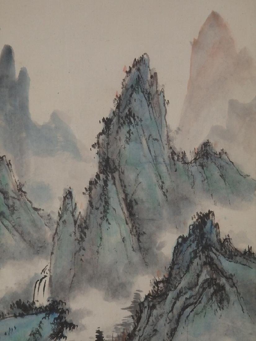 A painting of mountain scenic village - 6