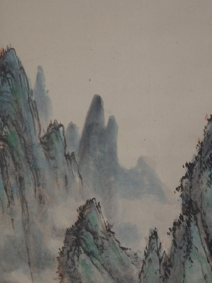 A painting of mountain scenic village - 7