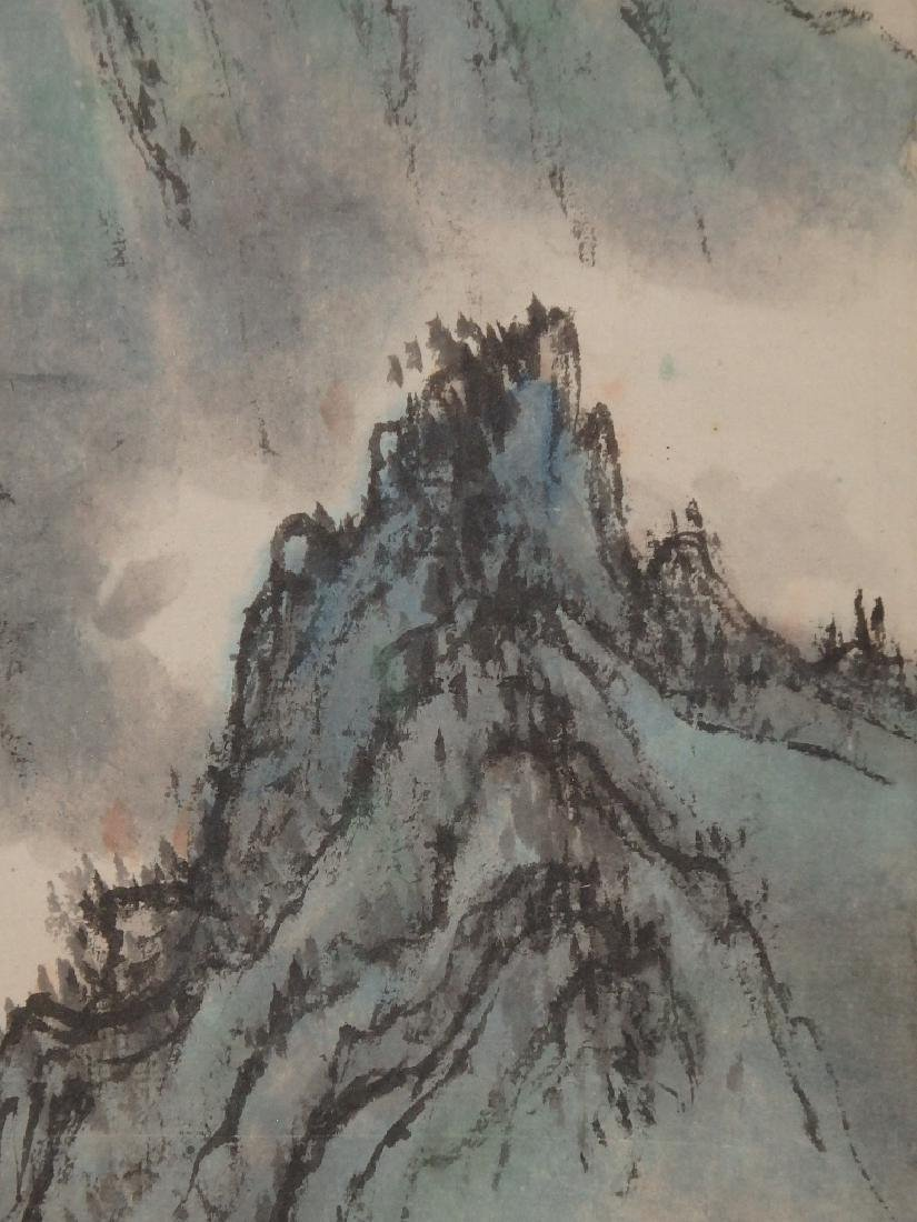 A painting of mountain scenic village - 8