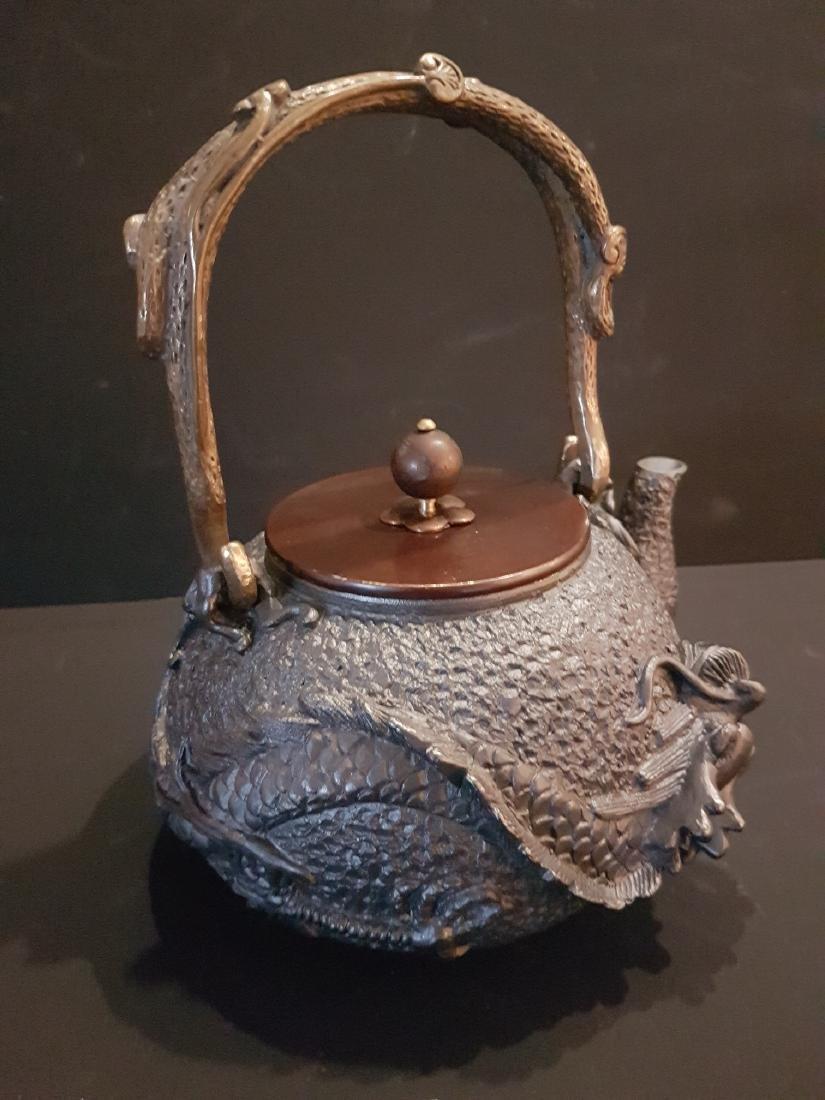 Original Japanese Tetsubin tea pot - 5