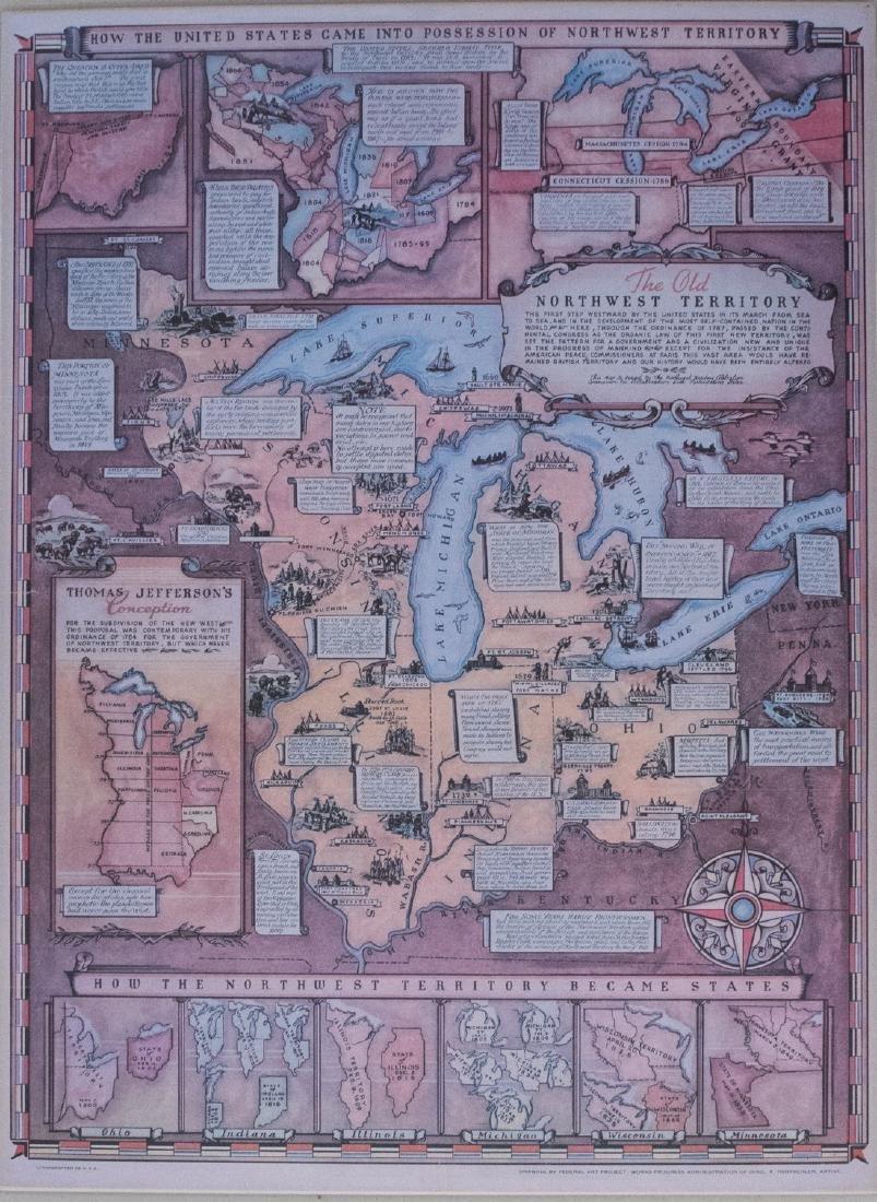 1937 Rentschler Pictorial Map of the Northwest