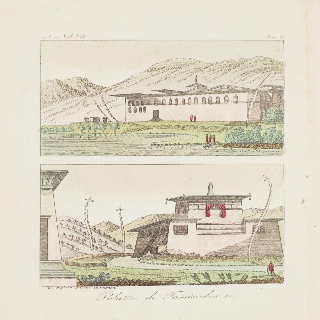 View Palace Tassisudon 1825 Tibet China Paglianti Steel