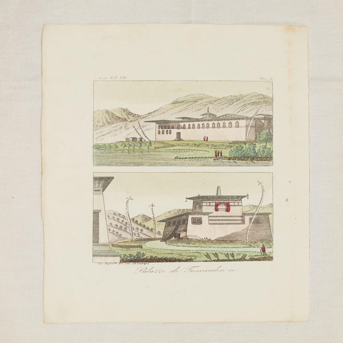 View Palace Tassisudon 1825 Tibet China Paglianti Steel - 2