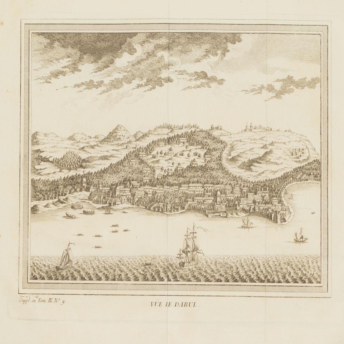 View Dabhol India 1750 circa Copper etching Bellin - 2