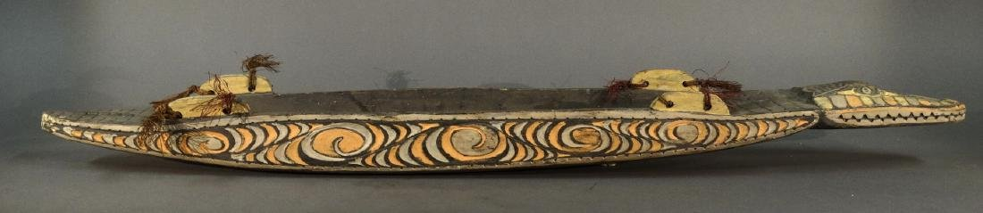 A Hand Carved Model Canoe Sepik