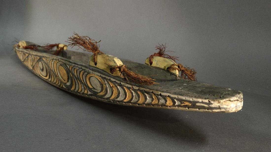 A Hand Carved Model Canoe Sepik - 2