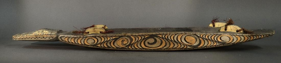 A Hand Carved Model Canoe Sepik - 3