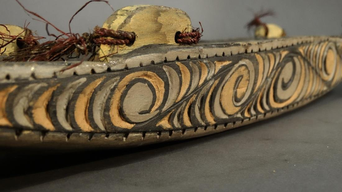 A Hand Carved Model Canoe Sepik - 4