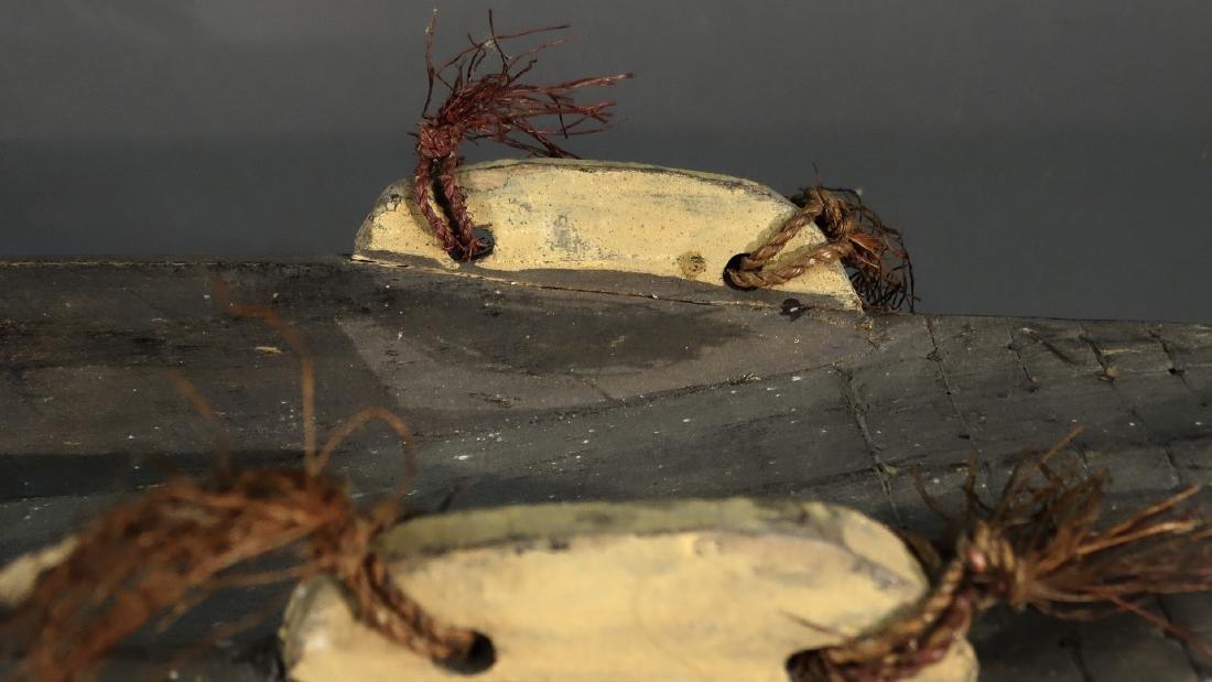 A Hand Carved Model Canoe Sepik - 6