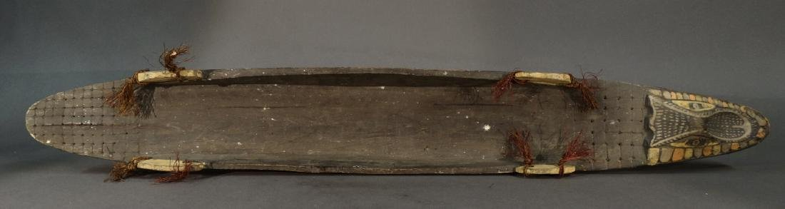 A Hand Carved Model Canoe Sepik - 7