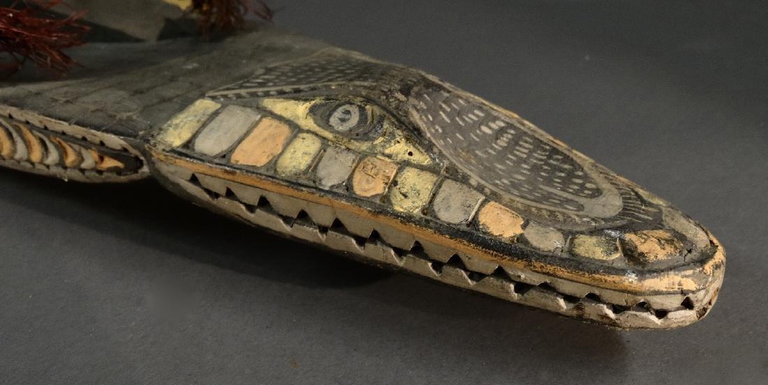 A Hand Carved Model Canoe Sepik - 8