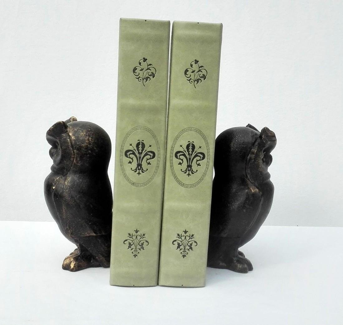 Cast Iron Owl bookends - 2