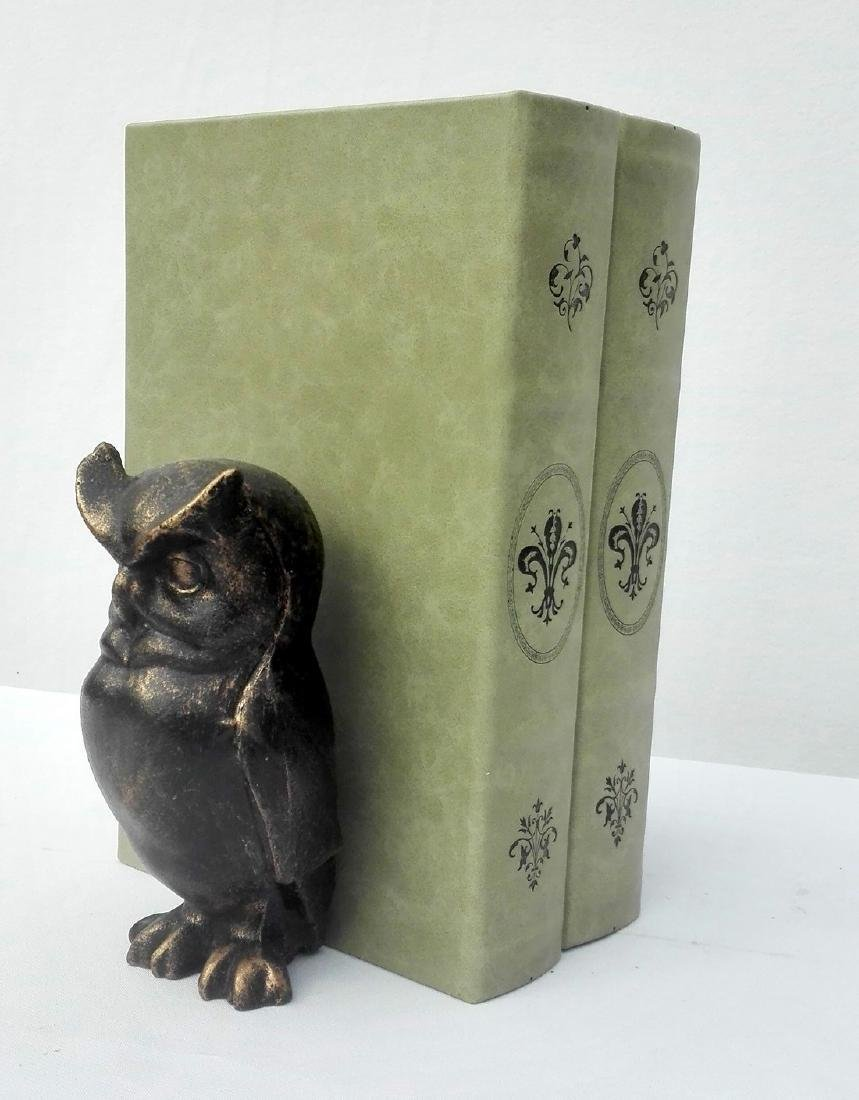 Cast Iron Owl bookends - 4