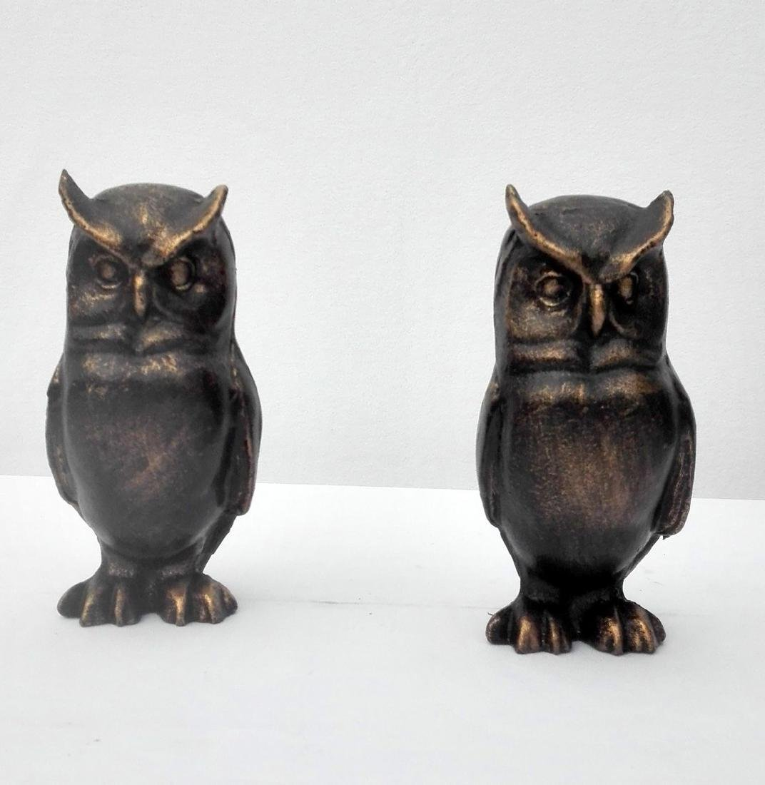 Cast Iron Owl bookends - 6