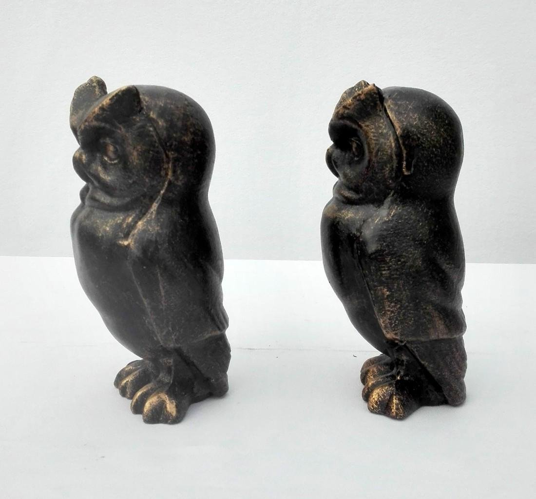Cast Iron Owl bookends - 7
