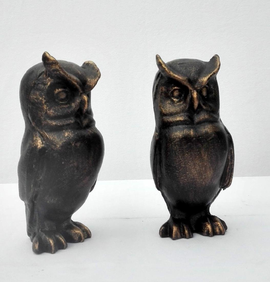 Cast Iron Owl bookends - 9