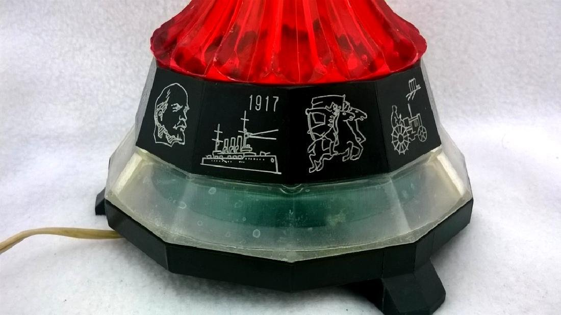 Vintage Night lamp Rocket. Dedicated to the first space - 9