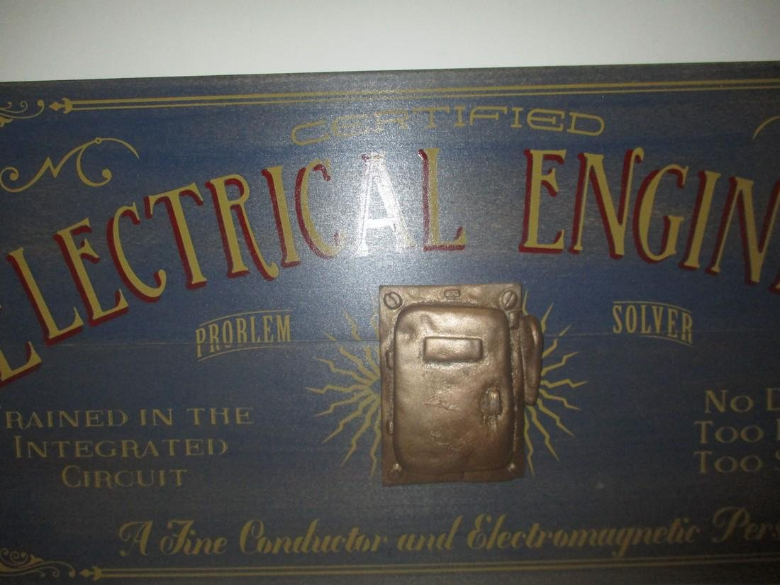 Folk Art Electrical Engineer Store or Office sign