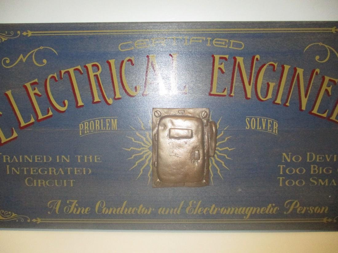 Folk Art Electrical Engineer Store or Office sign - 2