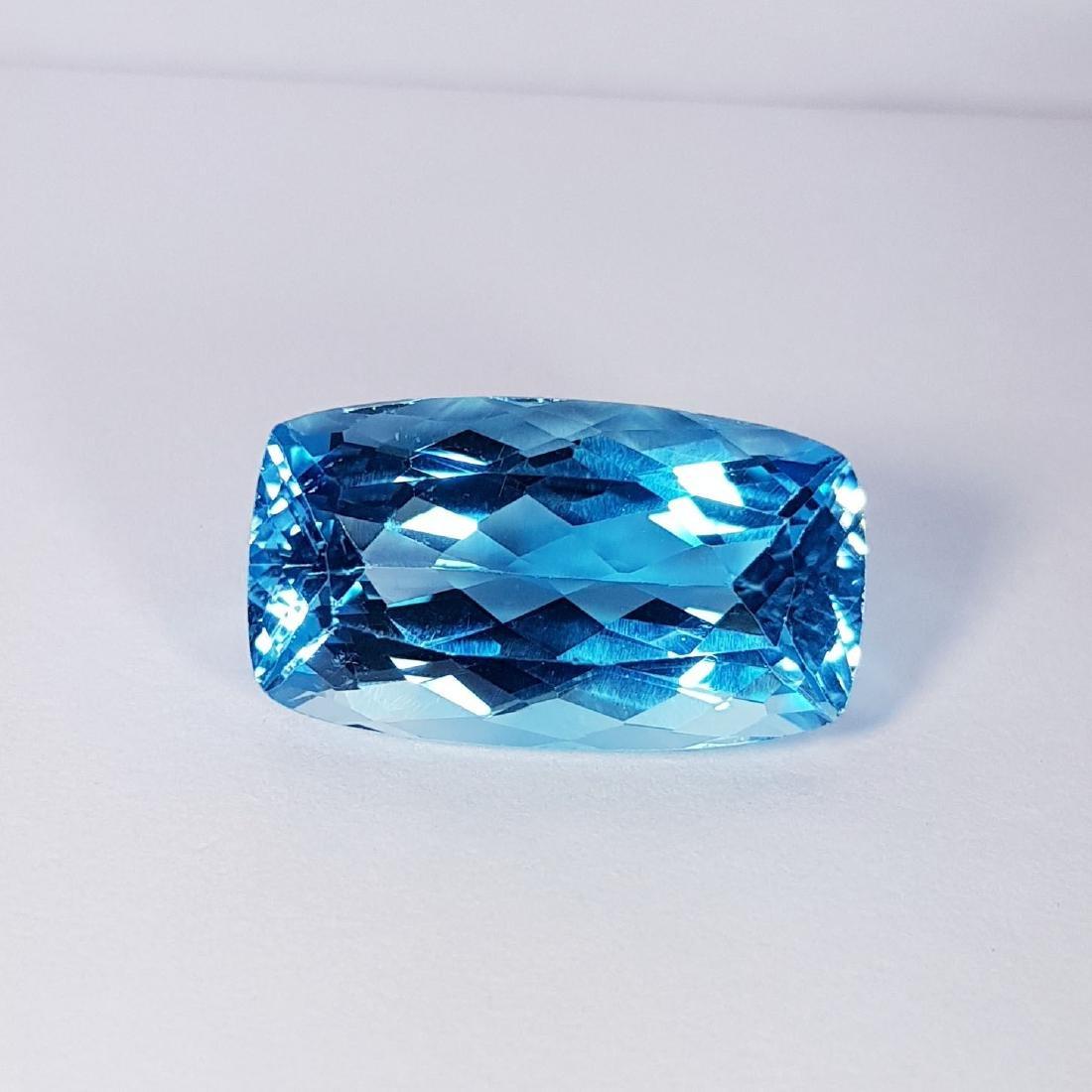 Natural Swiss Blue Topaz - 25.16 ct - 2