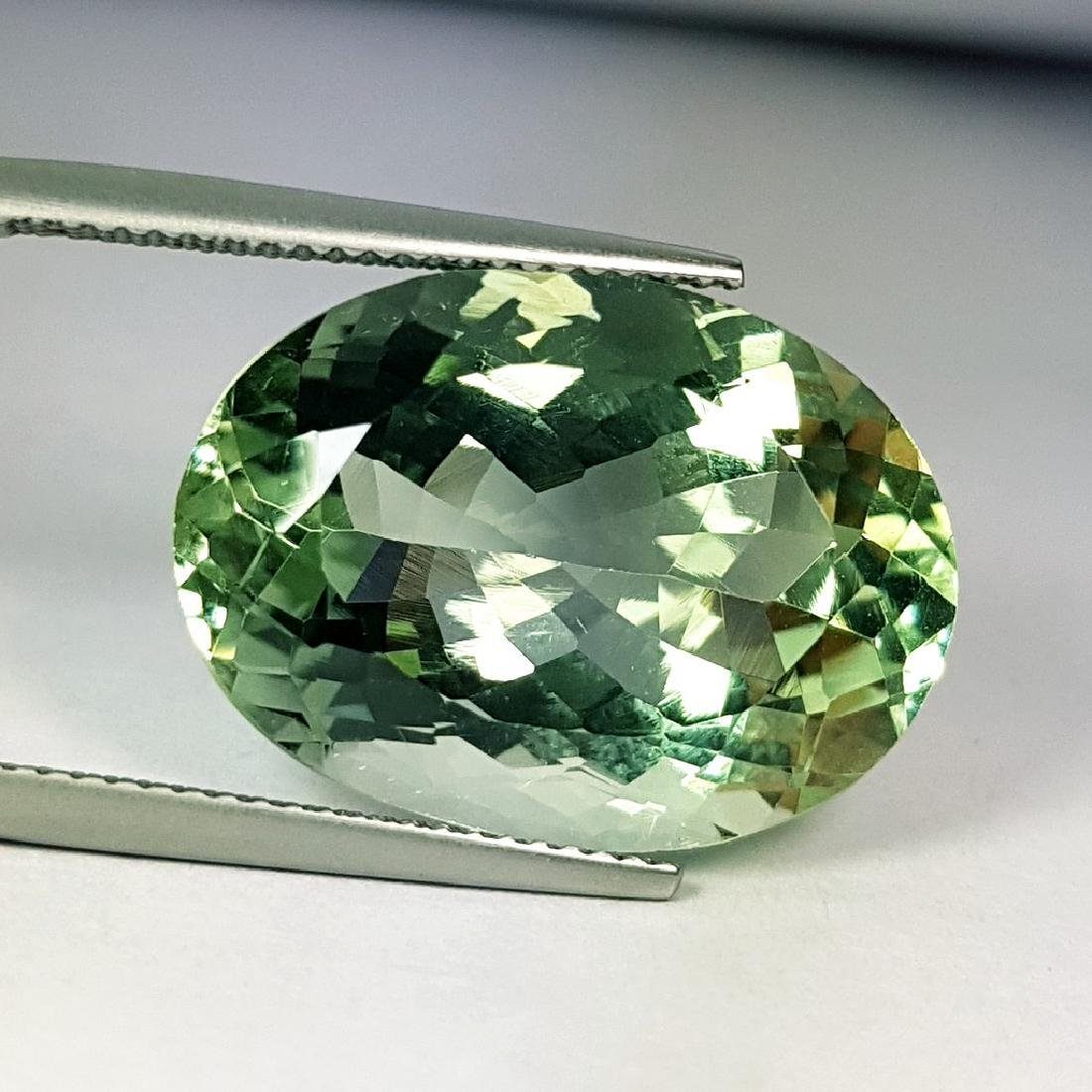 Stunning Luster Natural Green Amethyst - 11.36 ct