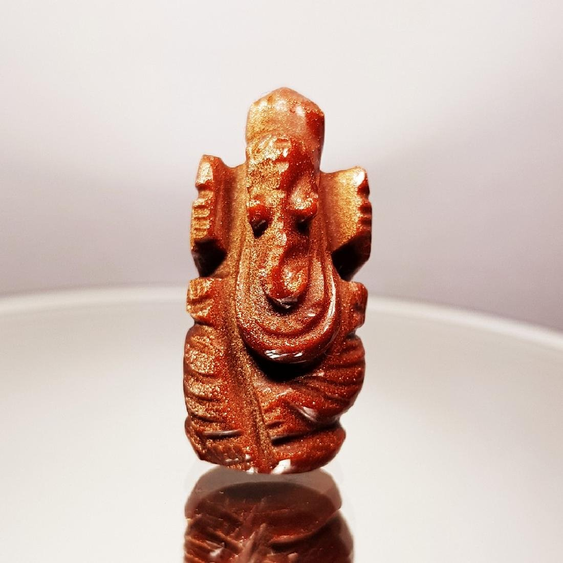 Sun Stone Lord Ganesha Carving - 36.94 ct
