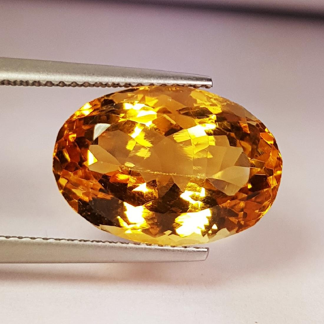 Collective Oval Cut Natural Citrine - 12.98 ct - 4