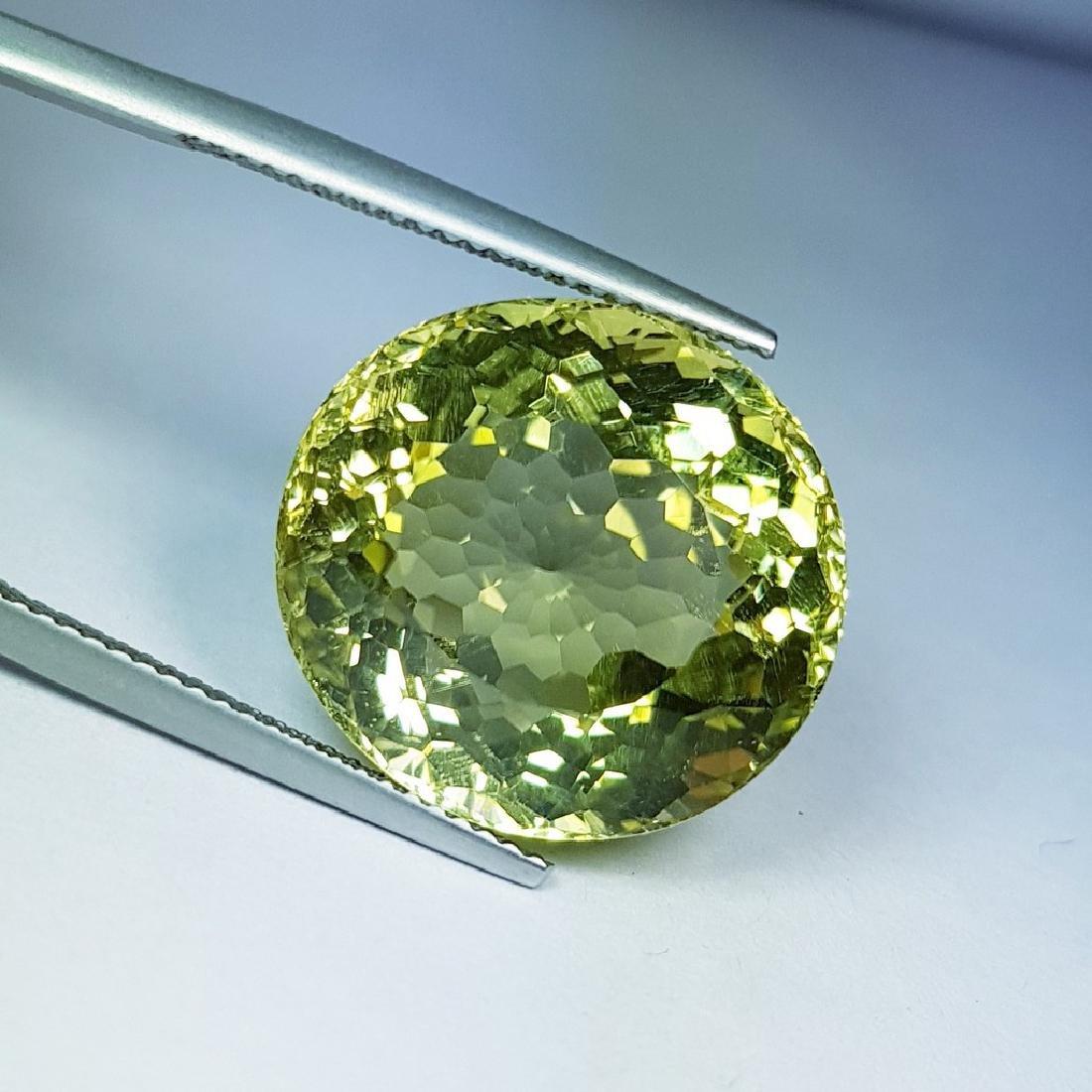 Natural Green Gold Quartz - 29.66 ct