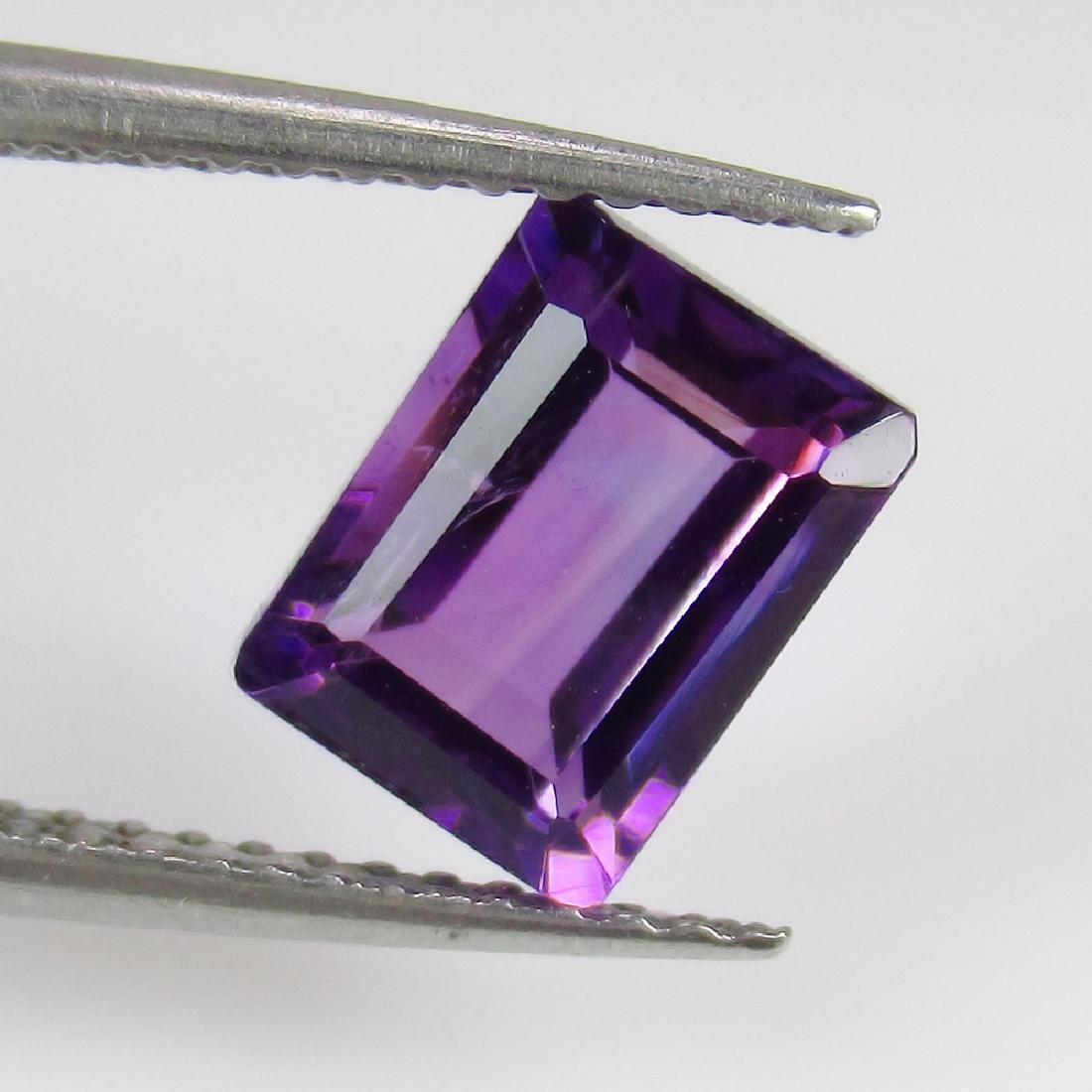 1.76 Ct Genuine Purple Amethyst 8X6 mm Octagon Cut