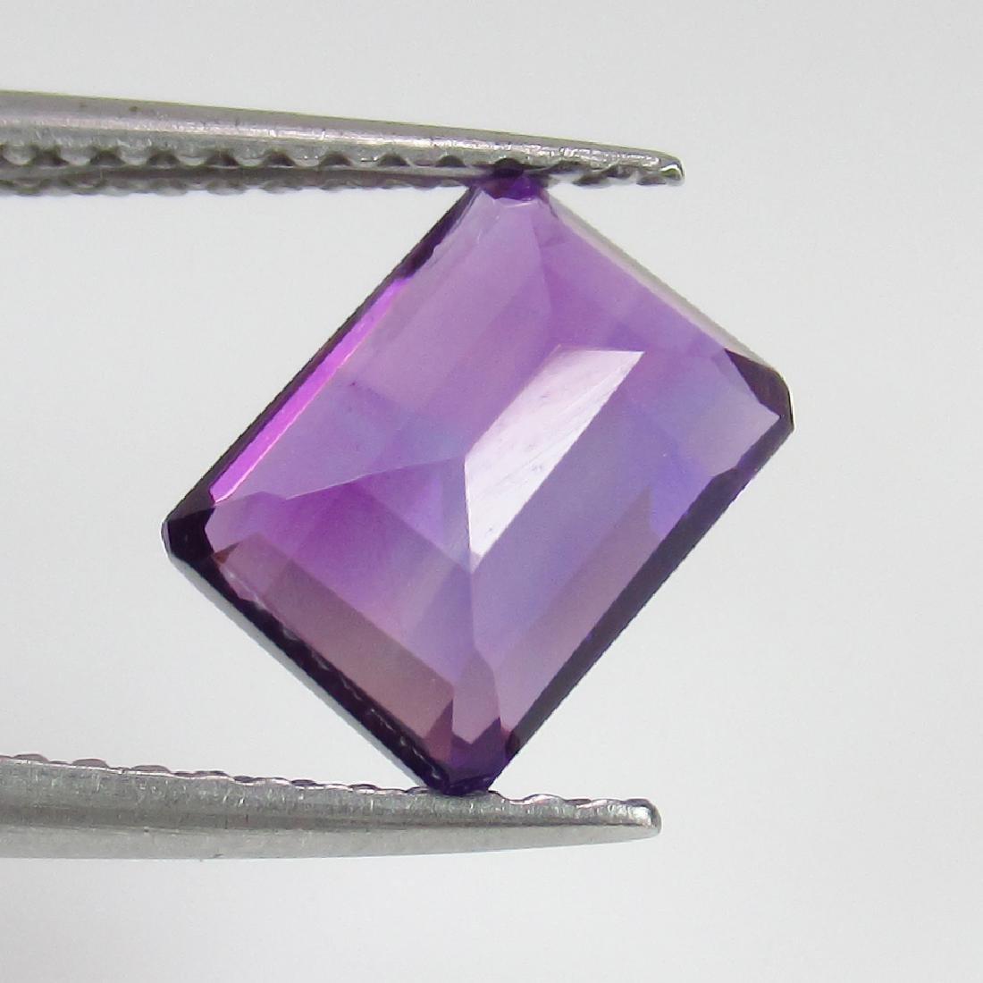 1.76 Ct Genuine Purple Amethyst 8X6 mm Octagon Cut - 2