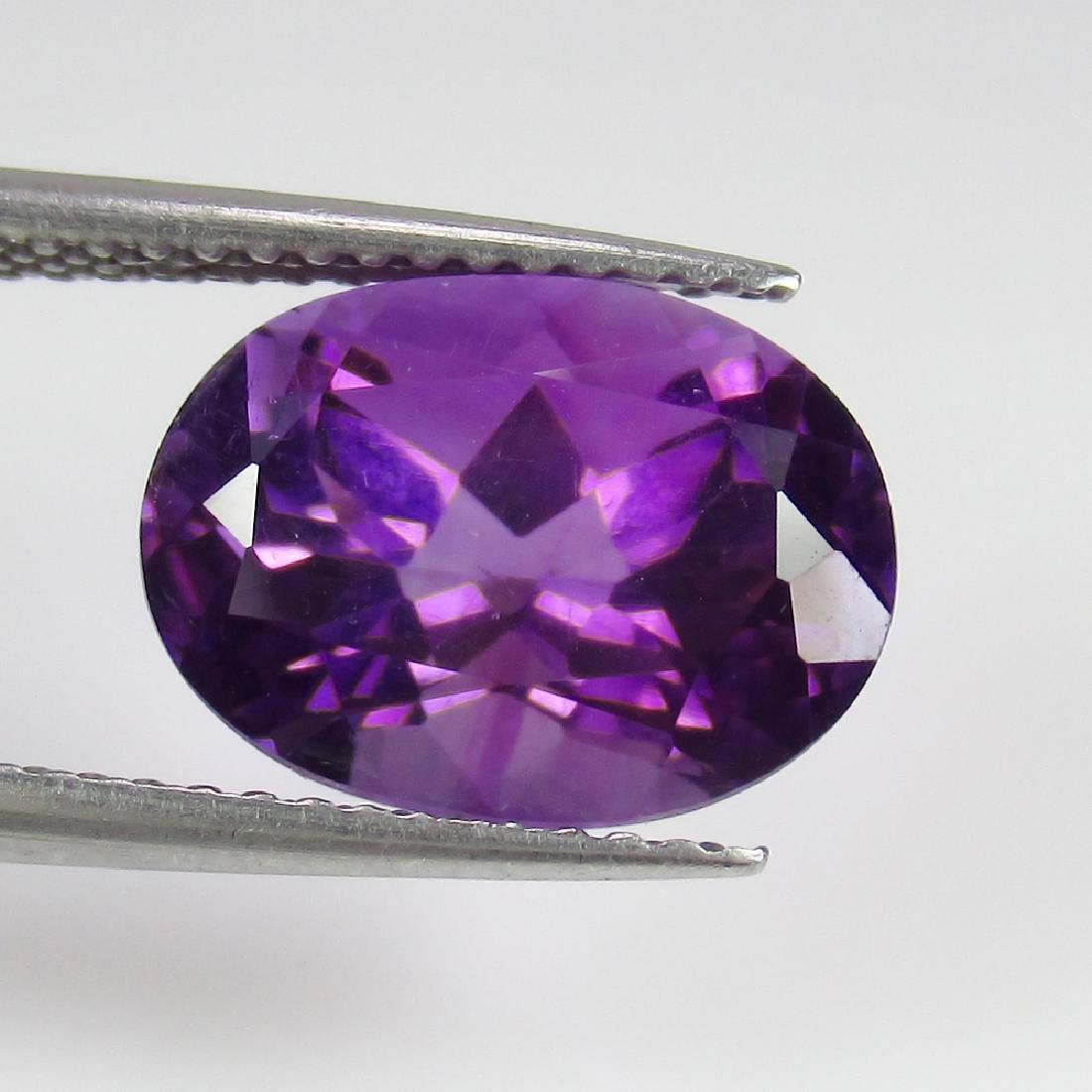 4.17 Ct Genuine Purple Amethyst Nice Oval Cut
