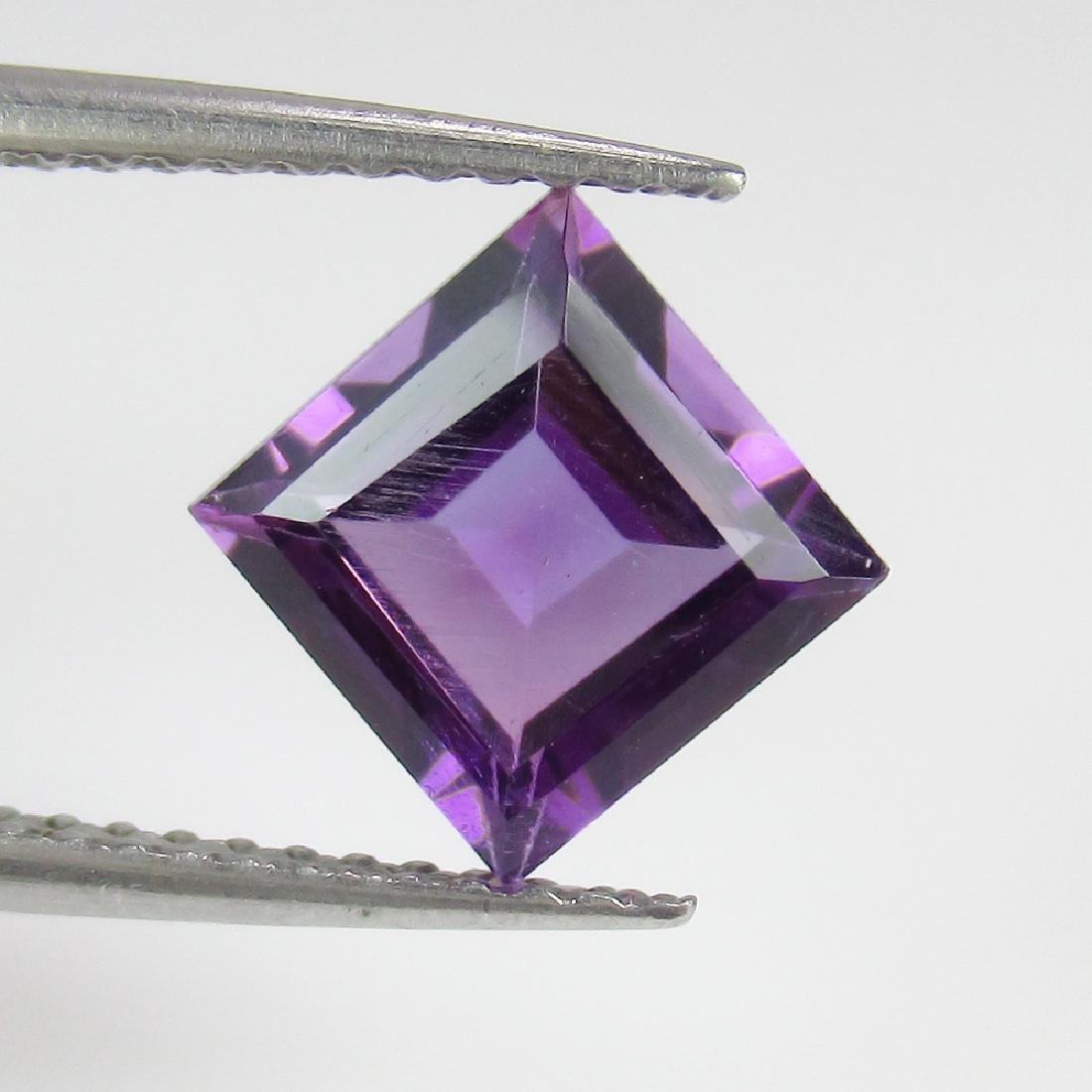 1.50 Ct Genuine Purple Amethyst 7X7 mm Square Cut