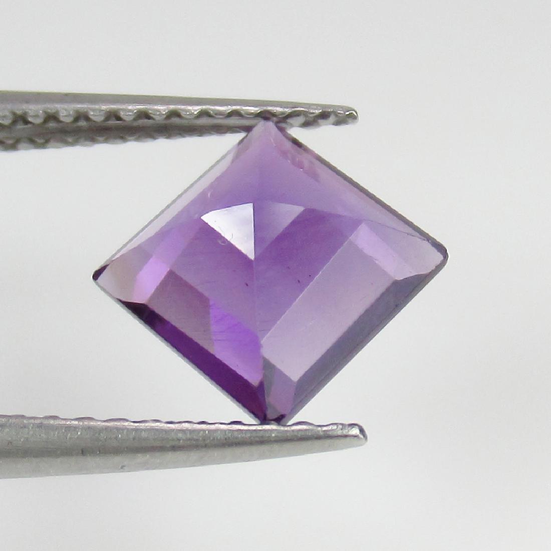 1.50 Ct Genuine Purple Amethyst 7X7 mm Square Cut - 2