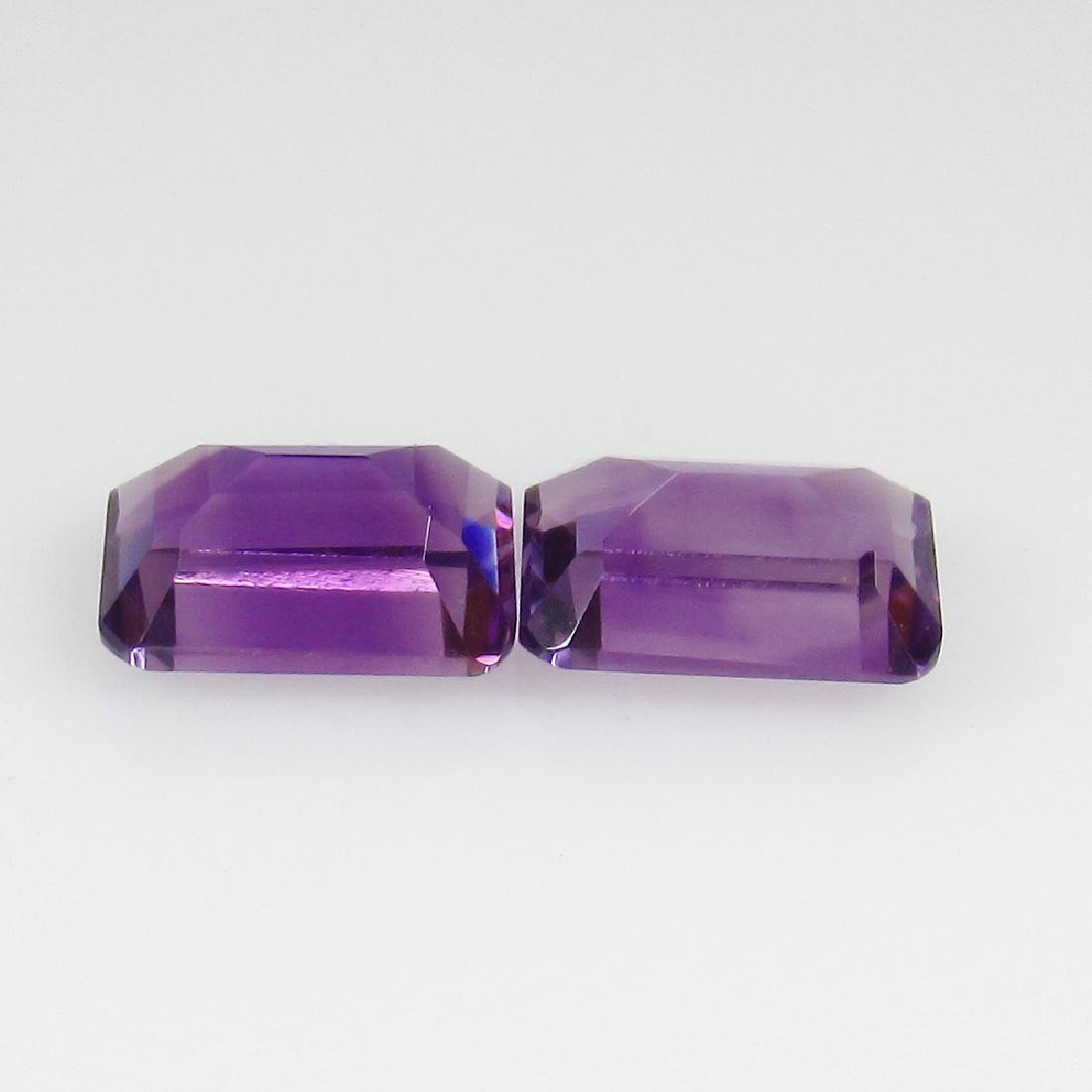 1.67 Ct Genuine Purple Amethyst Matching 7X5 mm Octagon - 2