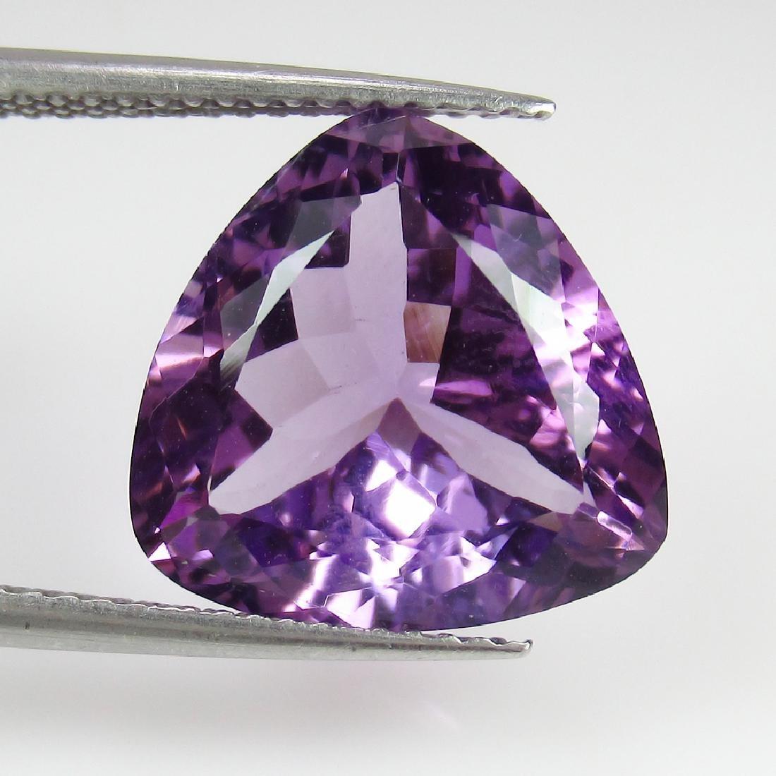 6.70 Ct Genuine Purple Amethyst Rare Trillion Cut