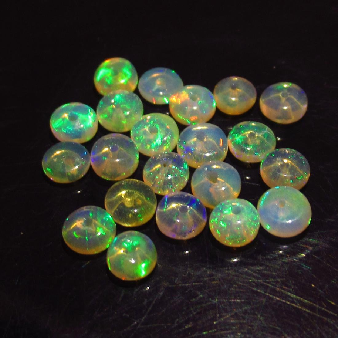 3.54 Ct Genuine 21 Loose Drilled Round Multi-Color Fire