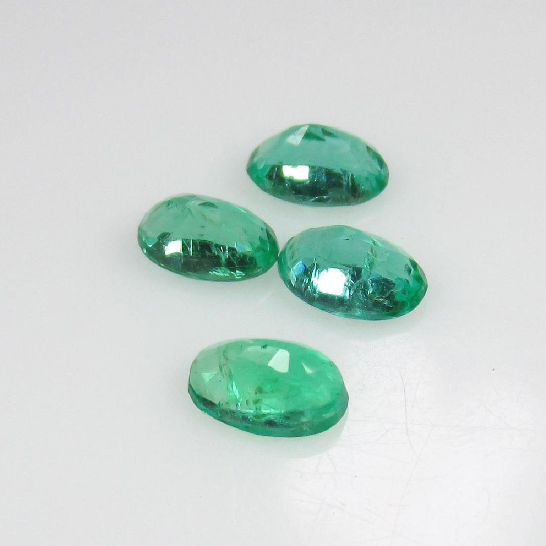 0.93 Ct Genuine Zambian Emerald 5X3 mm Matching Oval - 2