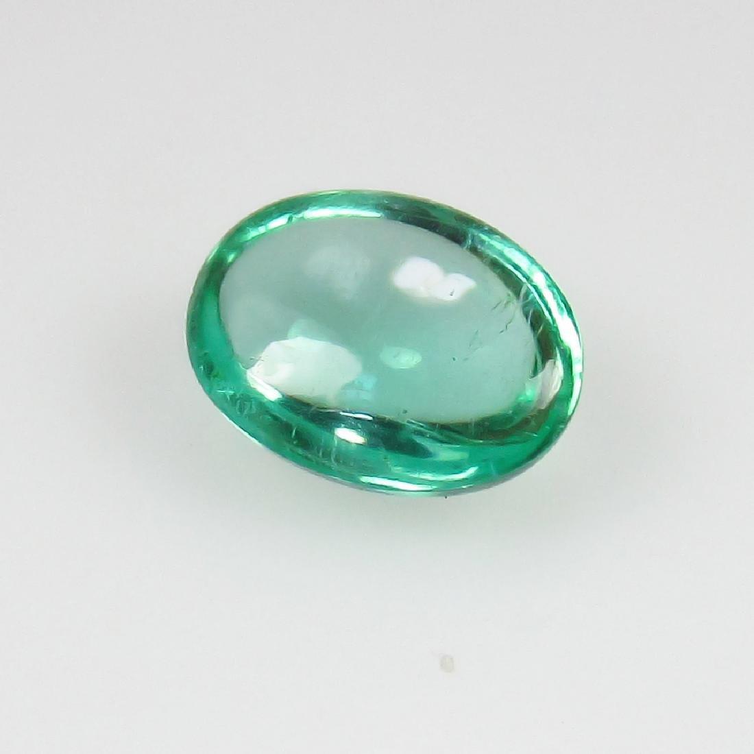 0.77 Ct Genuine Zambian Emerald Nice Oval Cabochon - 2