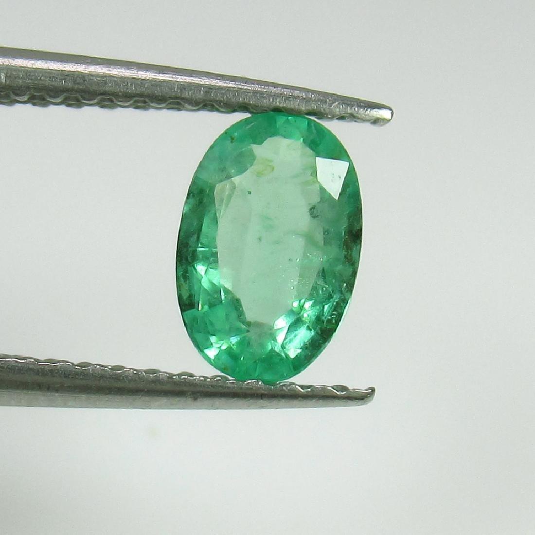 0.56 Ct Genuine Zambian Emerald Nice Oval Cut