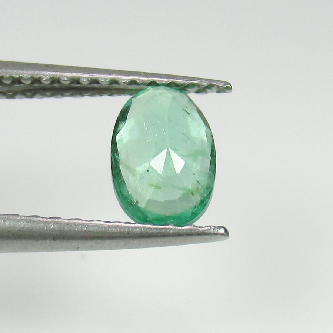 0.56 Ct Genuine Zambian Emerald Nice Oval Cut - 2