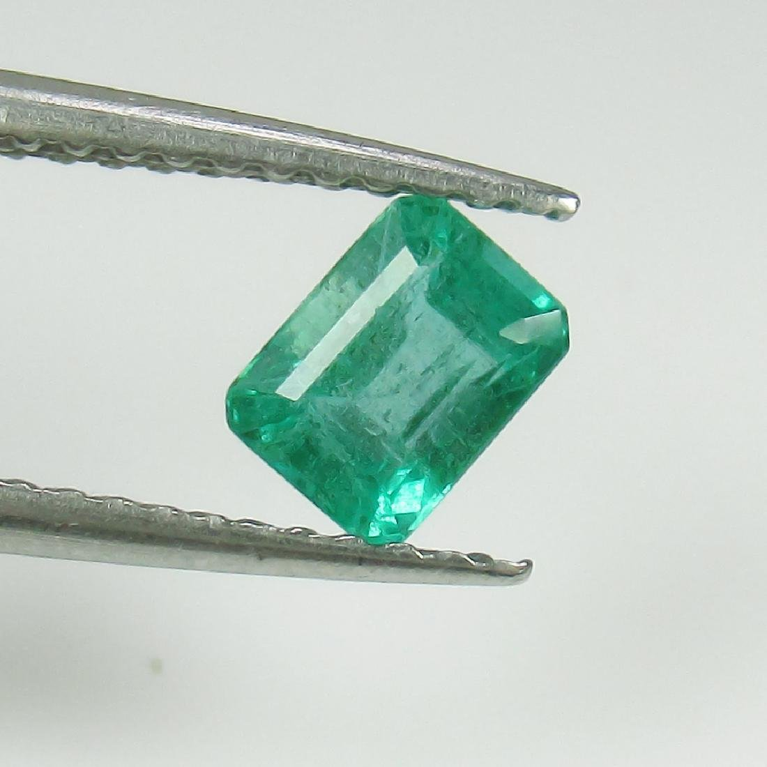 0.61 Ct Genuine Zambian Emerald Octagon cut