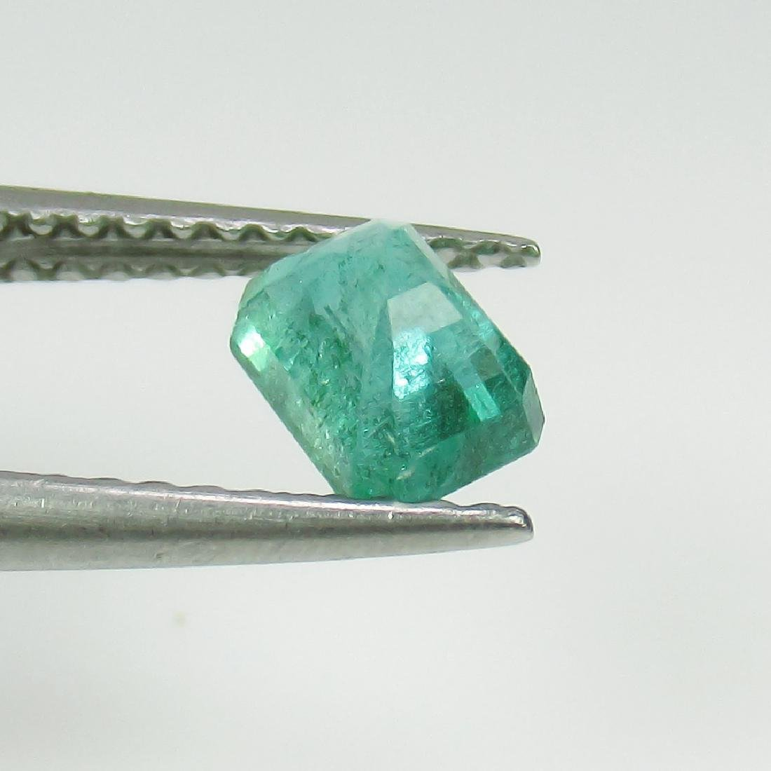 0.61 Ct Genuine Zambian Emerald Octagon cut - 2