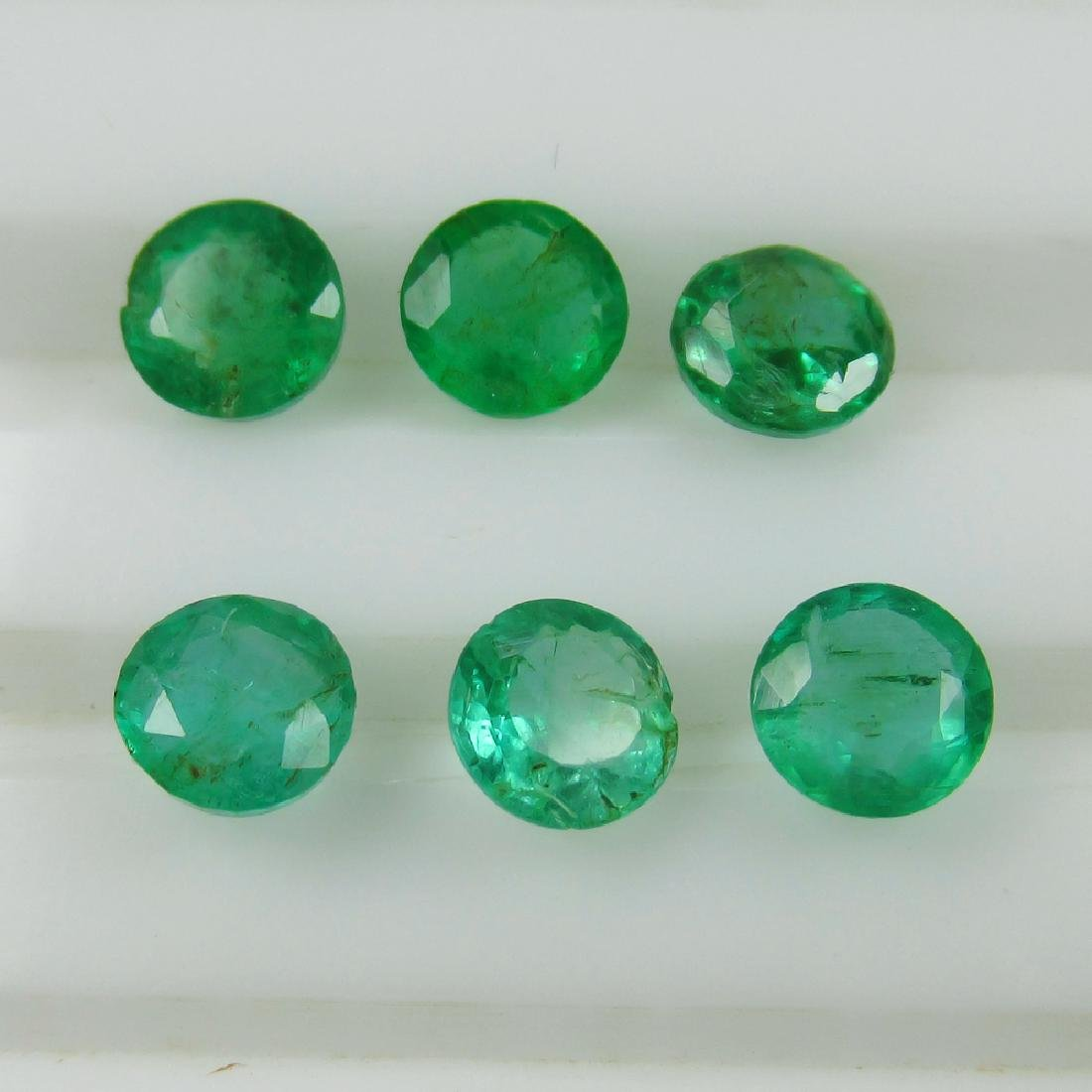 2.35 Ct Genuine Zambian Emerald Calibrate 4.7 mm